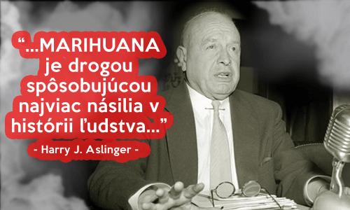 Harry J. Aslinger na verejnosti začal s propagandou mierenou na démonizáciu rastliny Marihuany.