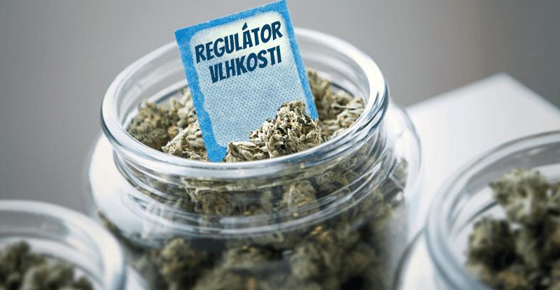skladovanie marihuany šišky v nádobe regulátor vlhkosti