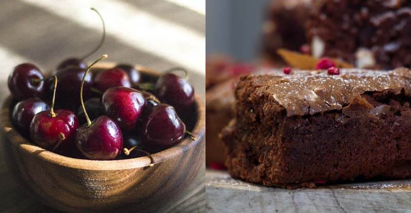 Brownies koláčik s višňami